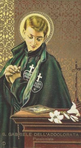 St Gabriel de l'Addolorata,Mère des Douleurs,religieux,passionniste