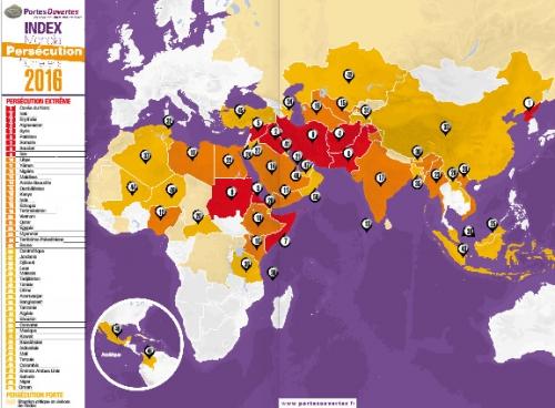 Index Mondial,persécution,chrétiensc2016