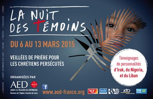 Du 6 au 13 mars 2015,Nuit des Témoins,AED