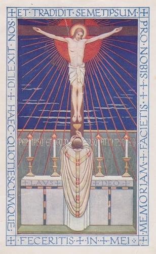 Charles Journet,messe,consécration,sacrifice,croix,rédemption,actualisation