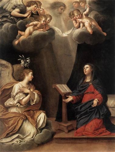 Abbé Hamon,Annonciation,Vierge Marie,humilité,ange,servante,St Bernard,Verbe,Dieu,incarnation,vie cachée