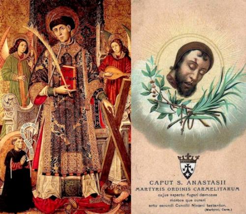 Sts Vincent,diacre,martyr,Anastase,moine,martyr