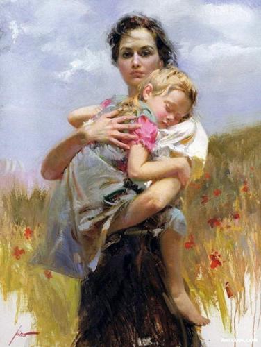H. Blaise,abandon,obéissance,résignation,acceptation,volonté divine,enfant,mère
