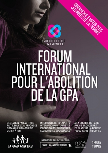 8 mars 2015,journée de la femme,Paris,Forum international,abolition,GPA,Gestation Pour Autrui