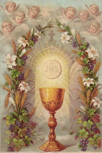 Gabriel de Ste Marie-Madeleine,Jésus-Christ,Dieu,croix,calice,corps,sang,faim,pain,vie,table,nourriture,breuvage,divinité,humanité