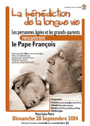 Conseil Pontifical,famille28 septembre 2014,Rencontre Internationale,personnes âgées,grands-parents,Pape,François,thème,bénédiction d'une longue vie