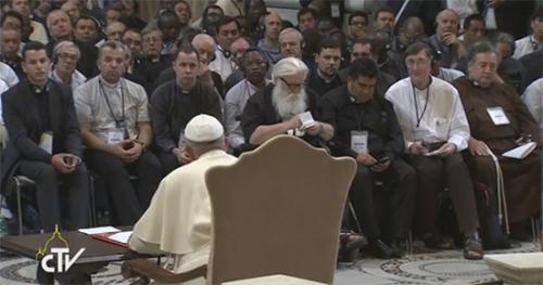 Rencontre,pape,François,Basilique,Saint Jean de Latran,Retraite mondiale,Prêtres