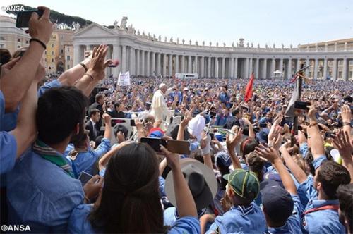 Rencontre,discours,Pape,François,Association,guides,scouts,catholiques,italiens,AGESCI
