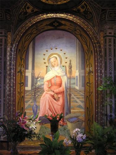 sainte Vierge,fille,mère,épouse,Dieu,salut,incarnation,Verbe,Trinité,rédempteur,Coeur immaculé,Esprit-Saint,ciel,contemplation