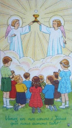 h.-c.-a. juge,enfants,communion,eucharistie,présence,jésus-hostie,foi,humilité,confiance,amour,vie éternelle