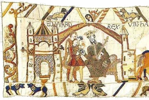 St Edouard,Edward,roi,Angleterre,tapisserie,Bayeux