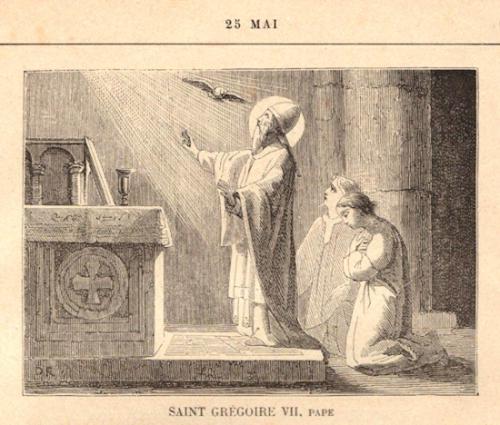 St Grégoire VII,abbé,pape