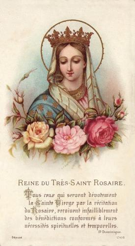 Regina del santo Rosario,prière,Pie XII,1942