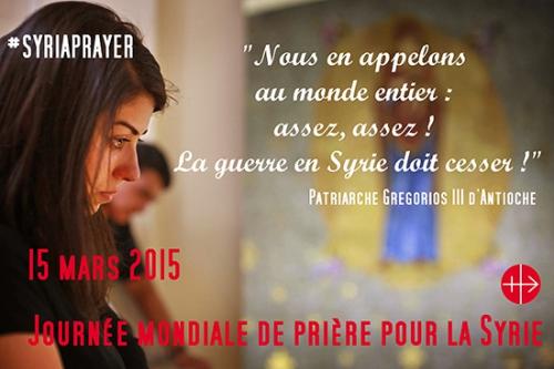 Syrie,AED,journée mondiale,prière,paix,15 mars,Patriarche d'Antioche,Grégoire III