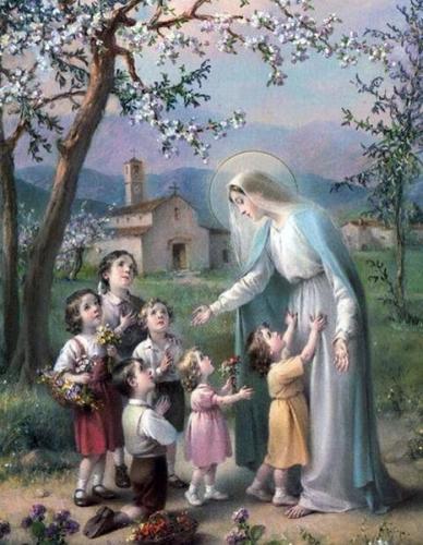 Marthe Robin,Marie,mère,vierge,reine,petits,enfant,confiance,refuge