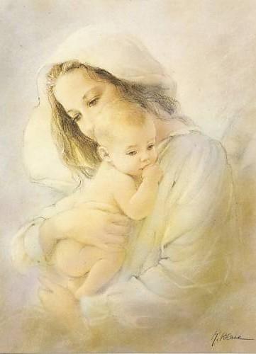 Vierge,Marie,Enfant,Jésus,Notre-Dame