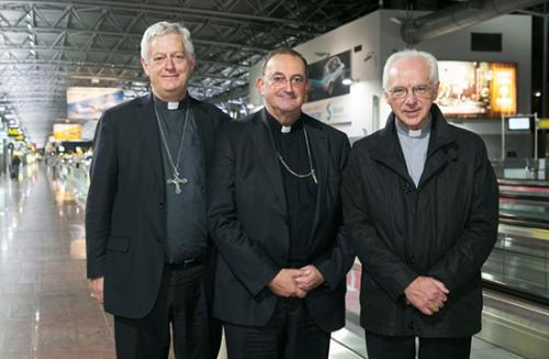 Mgr Guy Harpigny,Mgr Jozef De Kesel,Mgr Leon Lemmens,évêques belges,belgique,mission,solidarité,Irak