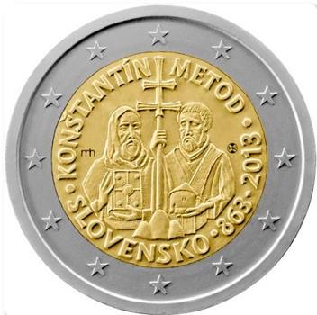 christianophobie,commission européenne,cyrille et méthode,croix,auréoles,pièce,monnaie,euro,slovaque,slovaquie,slave,europe