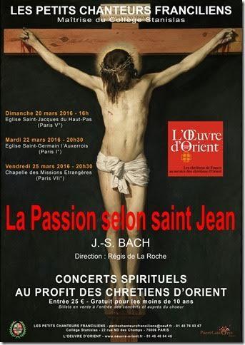 petits chanteurs franciliens,maitrise,stanislas,paris,concert,bach,passion,saint jean