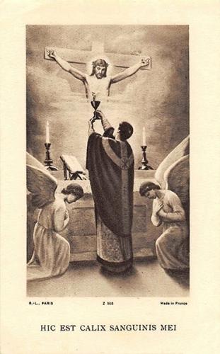 Eugène Vandeur,messe,sacrifice,calvaire,Golgotha,prêtre,autel,consécration,corps,sang,Christ