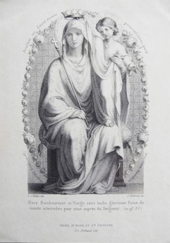 Cécile J. Bruyère,Abbesse,Solesmes,Vierge,Marie,culte,dévotion,vénération,dulie,hyperdulie,doctrine,eglise