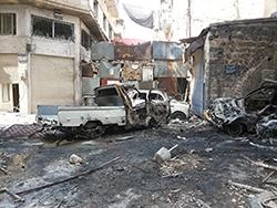 Syrie,je pleure,larmes,haute voix,cri,religieuse,Alep,combats,raid aérien,AED