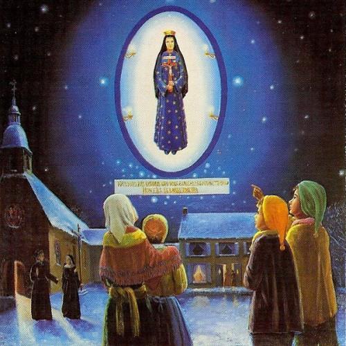 Apparition,Vierge Marie,Pontmain,17 janvier,1871,Eugène,Joseph,Barbedette,Françoise Richer,Jeanne-Marie Lebossé,abbé,Guérin