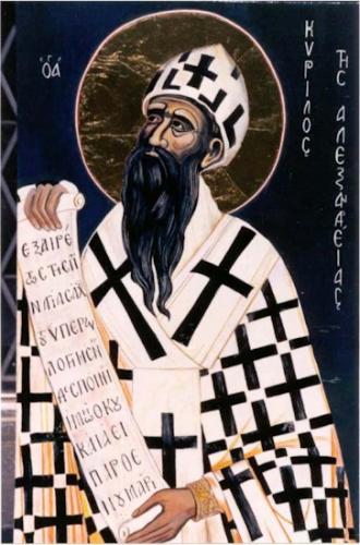St Cyrille d'Alexandrie,évêque,docteur de l'Eglise,