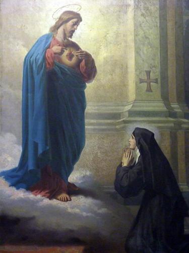 Marguerite-Marie,Alacoque,Paray-le-Monial,coeur,sacre-coeur,irrévérences,sacrilèges,froideurs,mépris,sacrement,amour