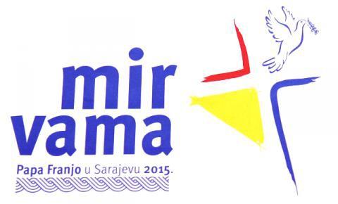 Voyage,Pape,Sarajevo,bosnie,6 juin 2015,Présentation,thème,logo