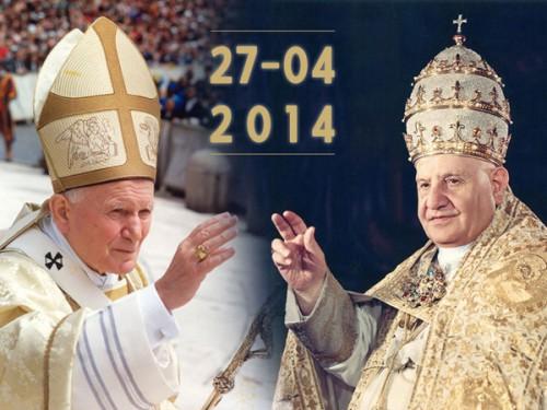 canonisation,bienheureux,pape,saint,jean xxiii,jean paul ii,françois,place saint-pierre,homélie,vidéo