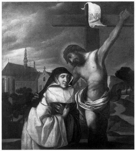 Sainte,Lutgarde,dévotion,Sacré-Coeur,apparition,Christ,Saint-Trond,échange des cœurs