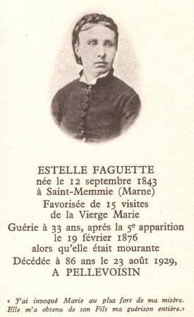 Dies Natalis,Estelle Faguette,voyante,Pellevoisin,