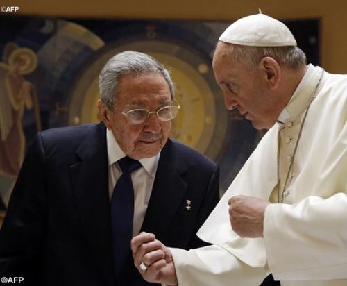 pape,françois,président,cubain,cuba,raoul castro,visite,rencontre,voyage,septembre