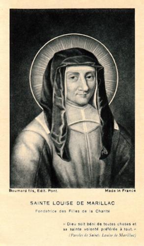Ste Louise de Marillac,veuve,cofondatrice,Filles de la Charité