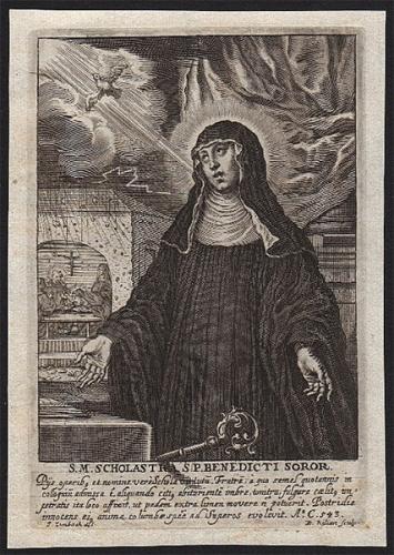 Ste Scholastique,vierge,soeur,St Benoît