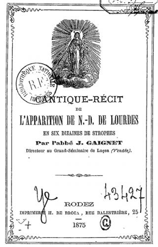 Ave Maria,Lourdes,Jean Gaignet